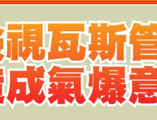 【居家安全】檢視瓦斯管線,避免造成氣爆意外!